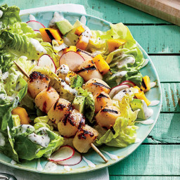 Grilled Scallop-and-Mango Salad Recipe