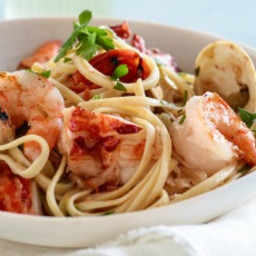 Grilled Seafood Pasta Fra Diavolo