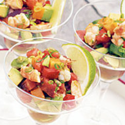Grilled Shrimp 'Margarita' with Avocados and Garden Tomatoes