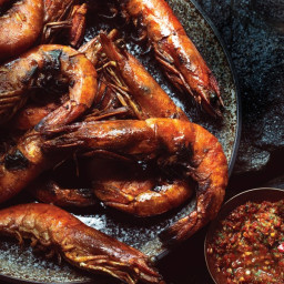 Grilled Shrimp with Chile, Cilantro, and Lime