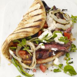 Grilled Skirt Steak Gyros