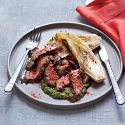 Grilled Skirt Steak with Salsa Verde