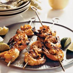 Grilled Sour Cream-Marinated Shrimp