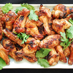 Grilled Spicy Chicken Wings With Soy and Fish Sauce