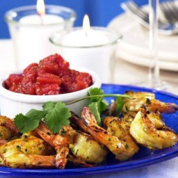 Grilled Spicy Shrimp with Sweet Tomato Chutney