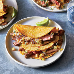 Grilled Steak and Mexican Street CornTacos