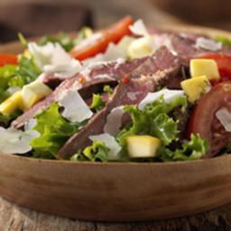 Grilled Steak and Parmesan Salad