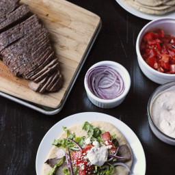 Grilled Steak Gyros