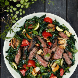 Grilled Steak Panzanella Salad With Tomato Vinaigrette