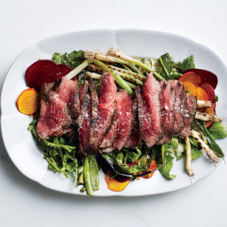 Grilled Steak Salad with Beets and Scallions