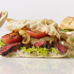 Grilled Steak Sandwich with Blackened Onions