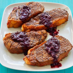 Grilled Steak with Berry Barbecue Sauce