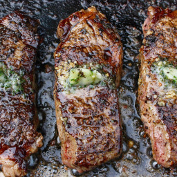Grilled Steaks w/Savory Butters