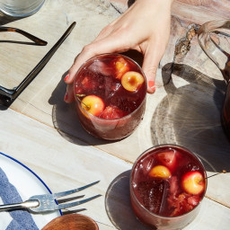 Grilled Stone Fruit Sangria