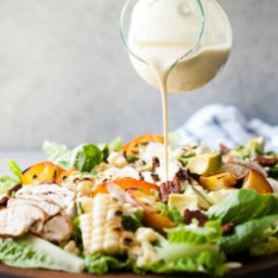 Grilled Summer Salad with Chicken and Spicy Cashew Dressing Recipe