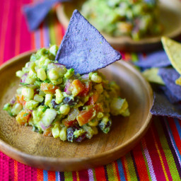 Grilled Sweet Corn Guacamole