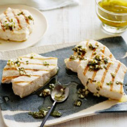 Grilled Swordfish with Lemon and Basil