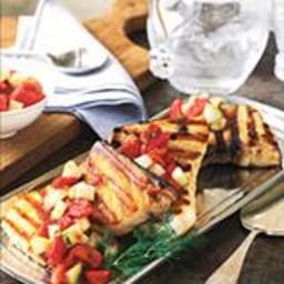 Grilled Swordfish with Tomato-and-Cucumber Salsa