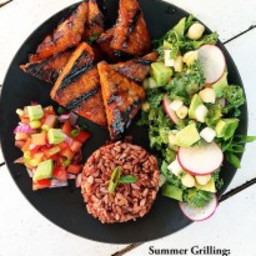 Grilled Tempeh with Filipino Barbecue Sauce