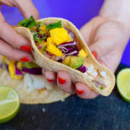 Grilled Tilapia Tacos with Fresh Mango Avocado Salsa