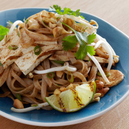 Grilled Tofu and Chicken Pad Thai