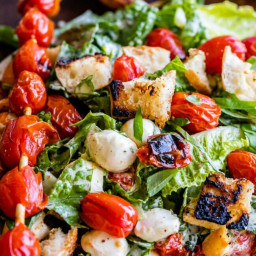 Grilled Tomato, Basil & Mozzarella Salad (Caprese Salad Recipe)