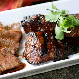 Grilled Tri-Tip Steak with Molasses Chili Marinade Recipe