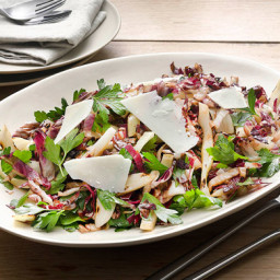 Grilled Tricolore Salad with Radicchio, Fennel and Parsley