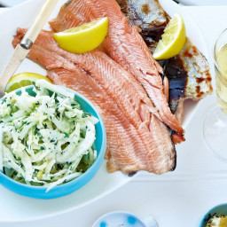 Grilled trout with fennel remoulade