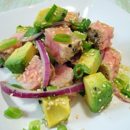 Grilled Tuna Avocado Salad