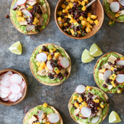 Grilled Tuna Tostadas with Black Bean-Mango Salsa