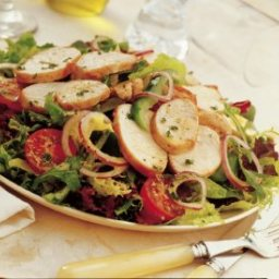 Grilled Turkey Salad with Dijon Mustard Dressing