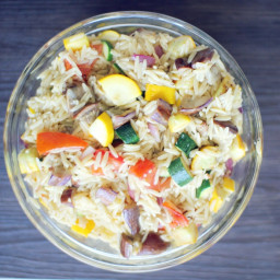 Grilled Veg and Orzo Salad