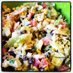 GRILLED VEGETABLE CHOPPED SALAD w/CREAMY JALAPENO DRESSING  (Paula Deen)