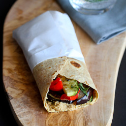 Grilled Vegetable Wrap Recipe with Hummus