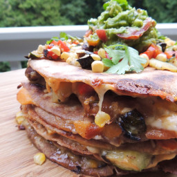 Grilled Veggie Quesadillas with Vegan Option