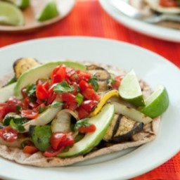 Grilled Veggie Tostadas with Fresh Salsa