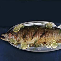 Grilled Whole Wild Salmon with Preserved Lemon and Fennel