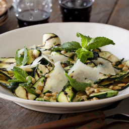 Grilled Zucchini Salad with Lemon-Herb Vinaigrette and Shaved Romano and To