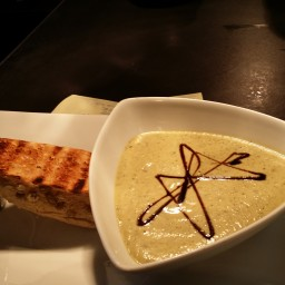Grilled zucchini soup