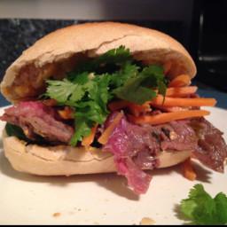 Grilled Beef Vietnamese Street Sandwiches
