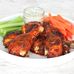 Grilled Buffalo Blue Cheese-Stuffed Drumsticks