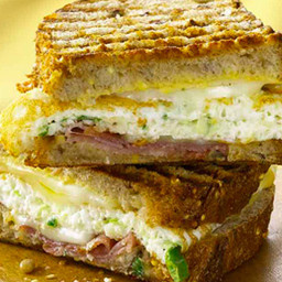 Grilled Cheese Sandwich with Egg and Prosciutto