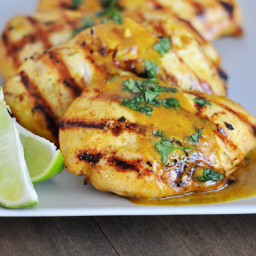 Grilled Lime Coconut Chicken with Coconut Rice