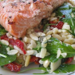 Grilled Salmon and Orzo O Style Recipe