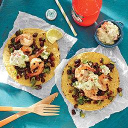 Grilled Shrimp Tostadas with Lime