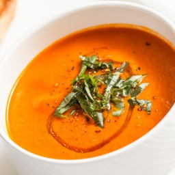 Grilled Tomato Soup with Gremolata