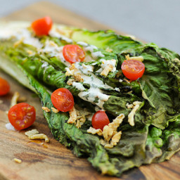 Romaine Salad with Spicy Ranch, Tomatoes and Fried Onions