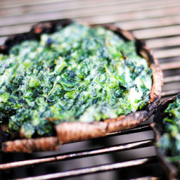 Grilling: Spinach and Cheese Stuffed Portobellos