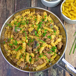 Ground Beef and Pasta with Gravy